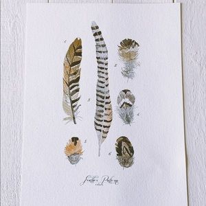 Canvas Feather Painting